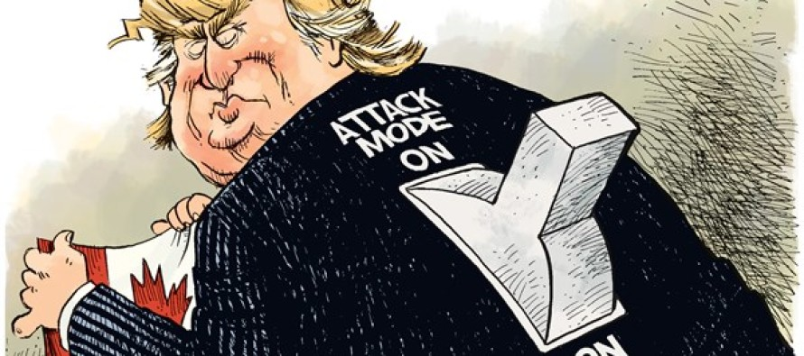 Trump Attack Mode (Cartoon)