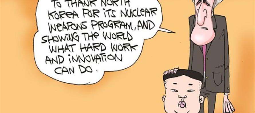 Kerry Thanks Iran (Cartoon)