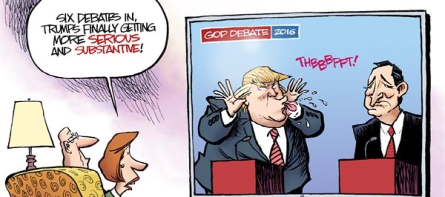 Trump Improvement (Cartoon)