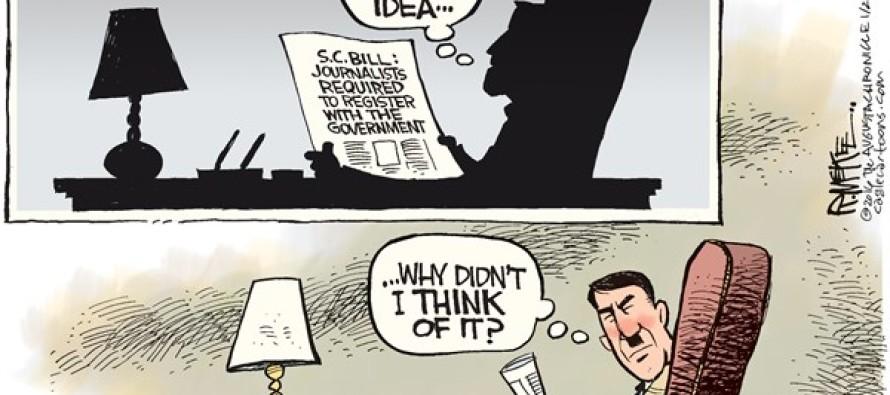 SC Press Registry Bill (Cartoon)