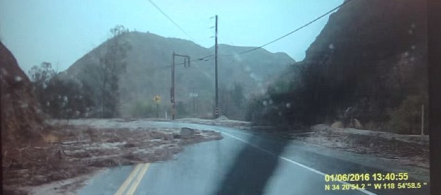 Terrifying Dashcam Footage Captures Cali Motorist Out-Driving Flash Flood That Surrounds His Car
