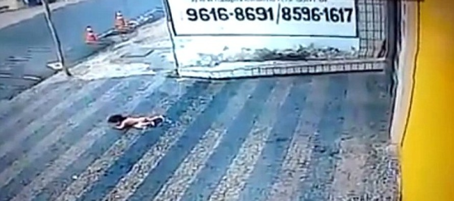 VIDEO: Nobody Expected This To Happen After A Toddler Fell From A Second Floor Window