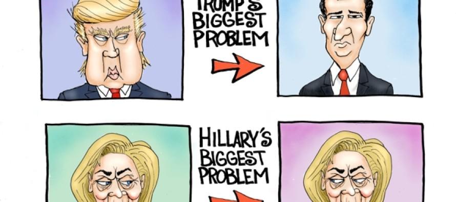 Front-Runner Problems (Cartoon)
