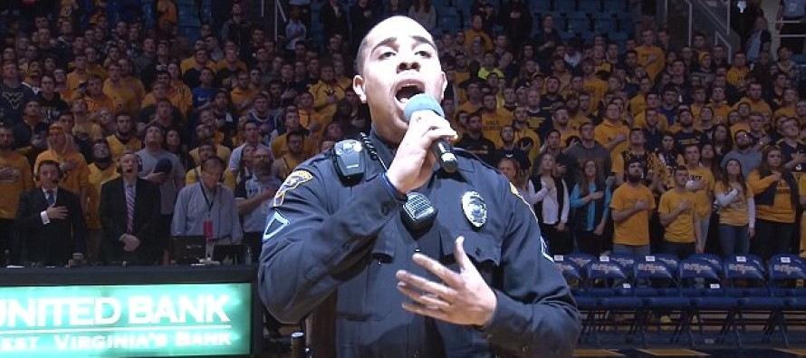 OUTSTANDING! Police Officer Sings National Anthem When Singer Gets Caught in Traffic