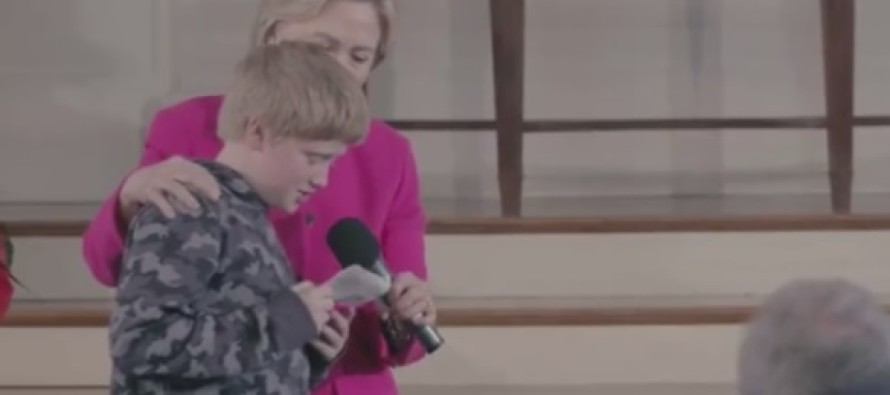 Did Hillary Clinton pay a young boy to ask THIS question?