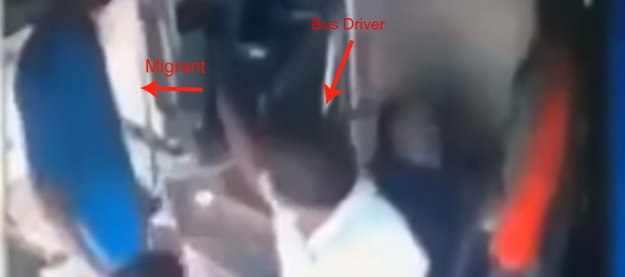 VIDEO: Muslim Migrant Attacks Bus Driver Who Wouldn't Give Him Free Ride & Gets What He Deserves