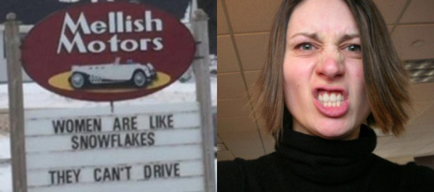 That's SO SEXIST! Feminists Come Unglued Over Mellish Motors' Politically Incorrect Signs