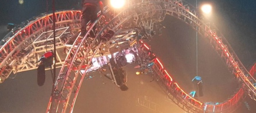 Video: Mötley Crüe's Tommy Lee got stuck upside down in a rollercoaster at their final show