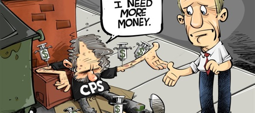 ILLINOIS Chicago public schools (Cartoon)