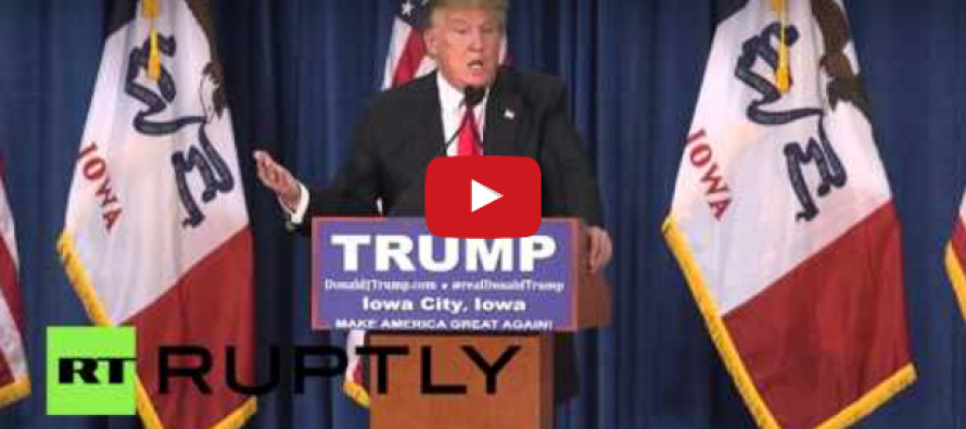 VIDEO: Liberal Idiot Throws Tomatoes at Trump During Speech… Watch How He Responds