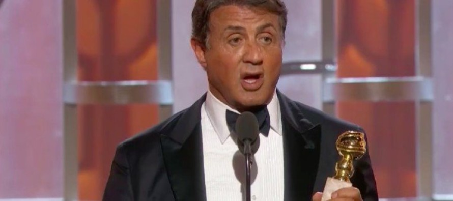 Outrage After Sylvester Stallone Does THIS During Golden Globes Speech