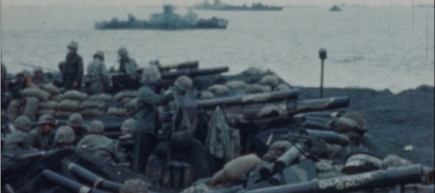 Never before seen color film shows US Marines in action… some images are 70 years old!