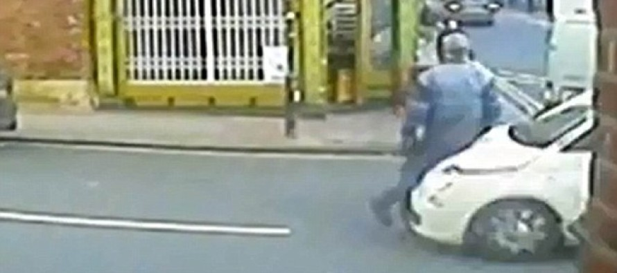 Shocking Moment Hit-And-Run Driver Smashed Into Pedestrian And Sent Him Flying 40ft Through The Air