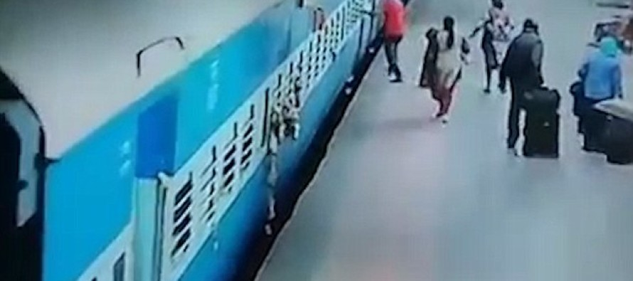 Terrifying Moment Woman Is Dragged Onto The Train Tracks And Crushed, As She Was Doing THIS!