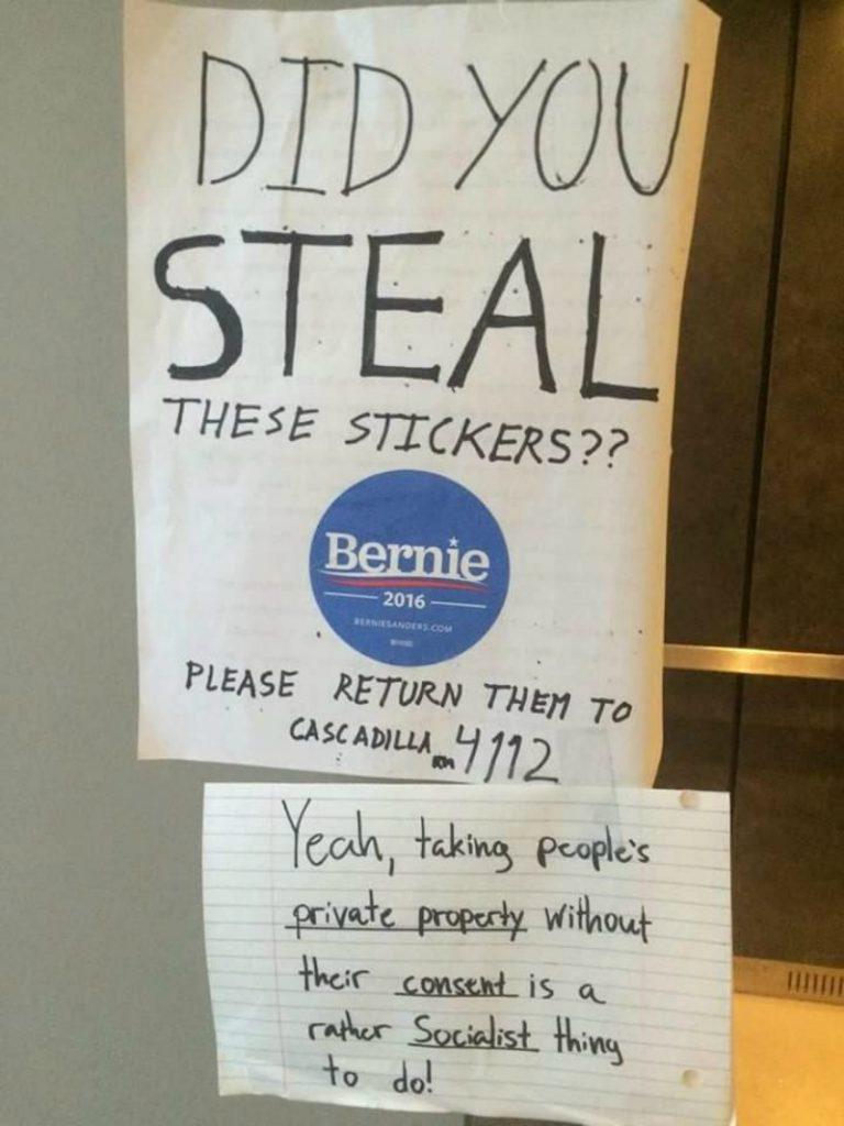 bernie socialist stickers