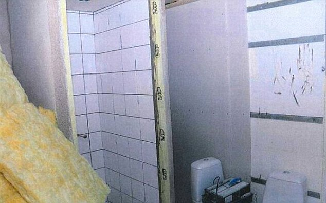 Doctor takes woman hostage in Fritzl bunkeer.. Ongoing construction of the toilet inside the bunker. Pictures Swedish Police Handout