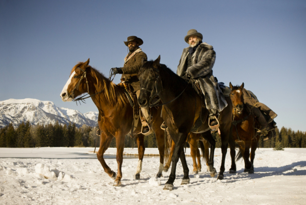"Jamie Foxx, left, and Christoph Waltz star in Columbia Pictures' ""Django Unchained."""