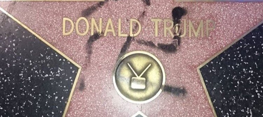 Donald Trump's Hollywood star vandalized with THIS!