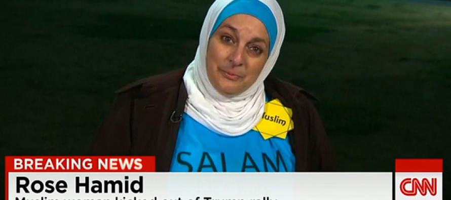 Corrupt Media Machine fails to indentify Muslim woman Rose Hamid thrown out of Trump rally is a well known activist with ties to Muslin Brotherhood
