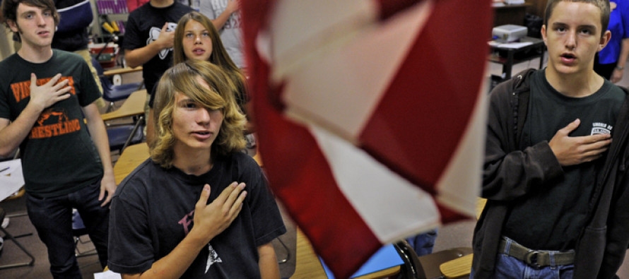 The Class Stands For The Pledge Of Allegiance, Then THIS Student Pledges To Something ELSE!