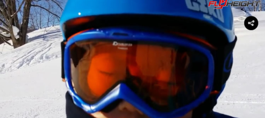 Watch this three year old fall asleep while skiing