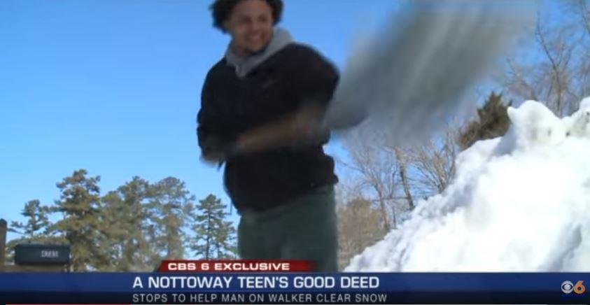 snow shoveling samaritan