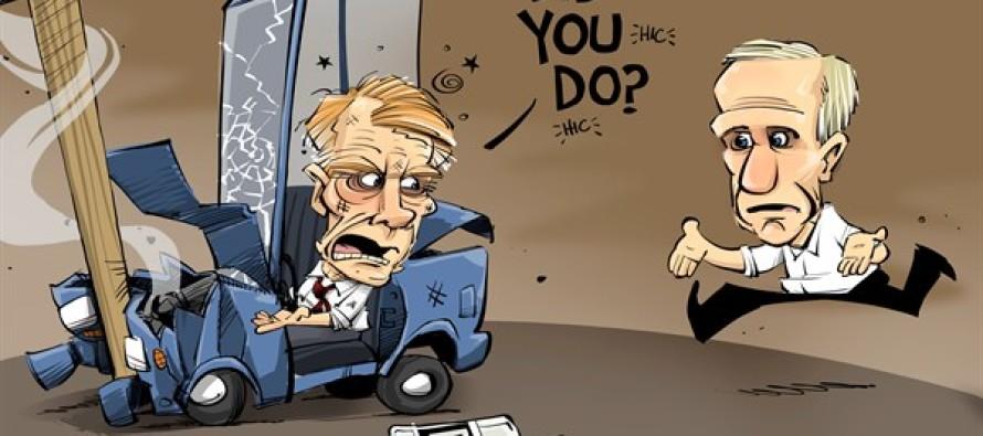 ILLINOIS blaming the Gov (Cartoon)