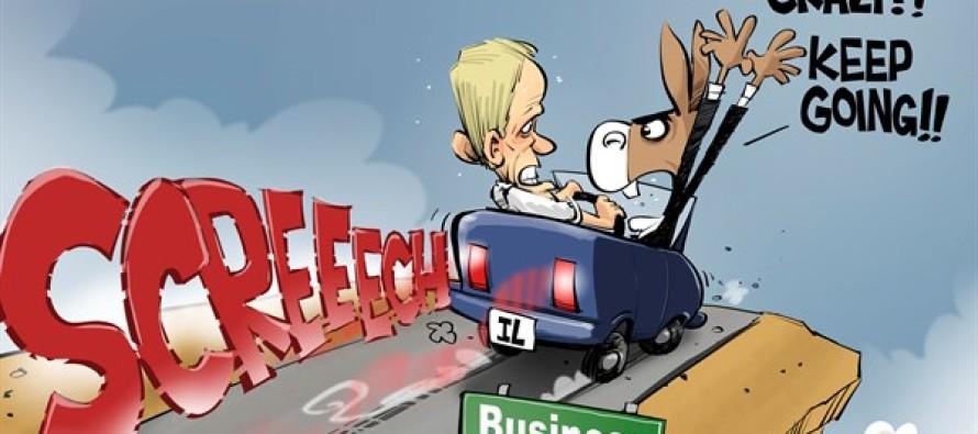 ILLINOIS Business as usual (Cartoon)