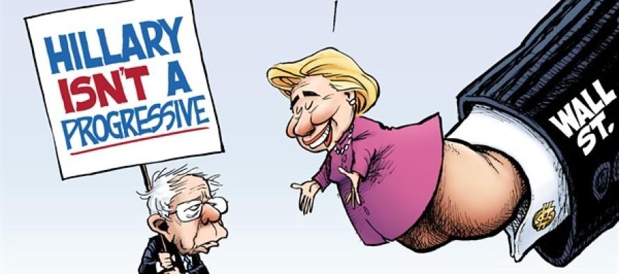 Progressive Hillary (Cartoon)