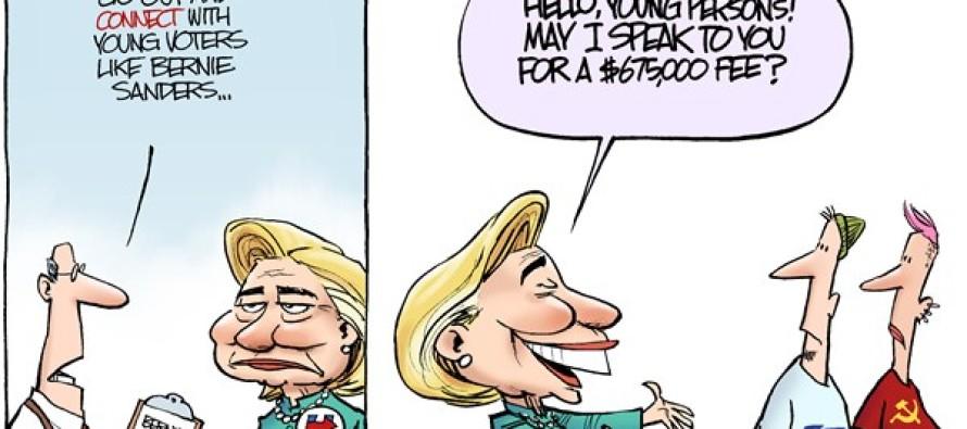 Hillary Connects (Cartoon)