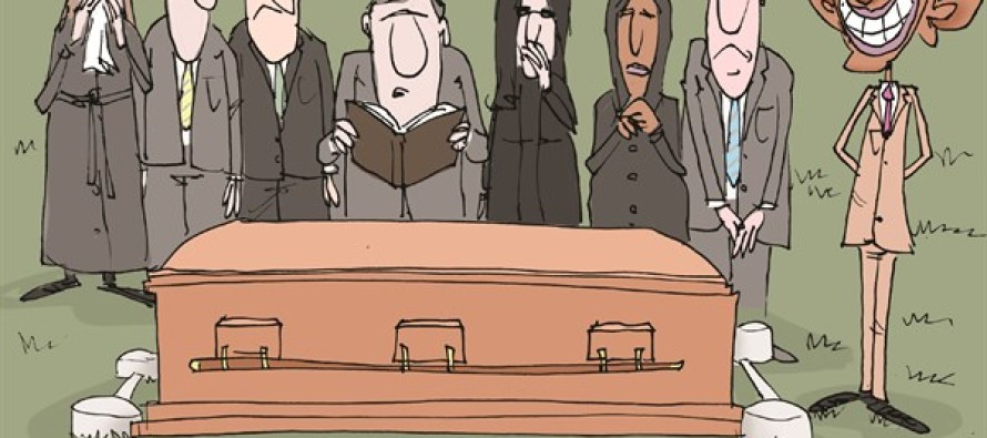 Obama and Scalia's Death (Cartoon)