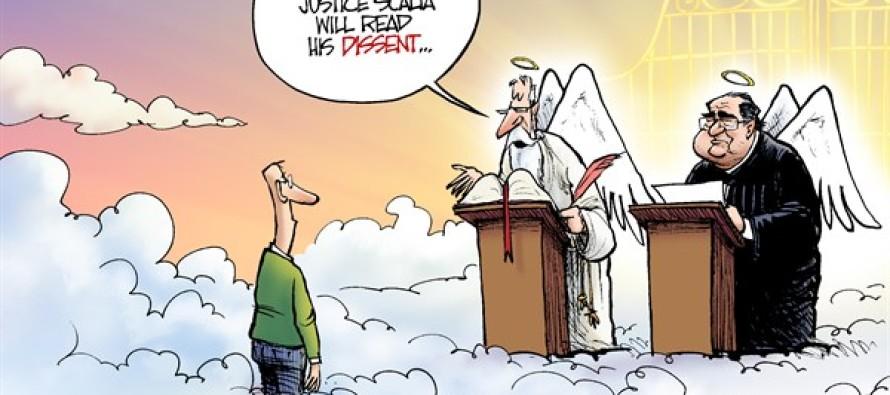 RIP Justice Scalia (Cartoon)