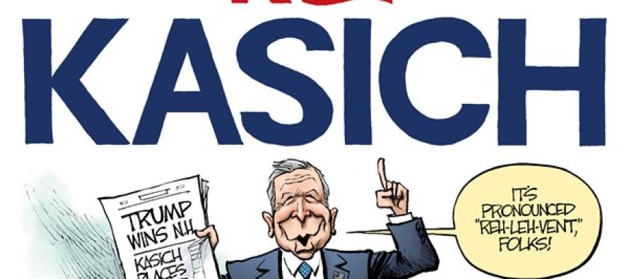 Kasich Captures Second (Cartoon)