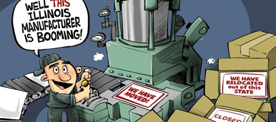 ILLINOIS manufacturing boom (Cartoon)