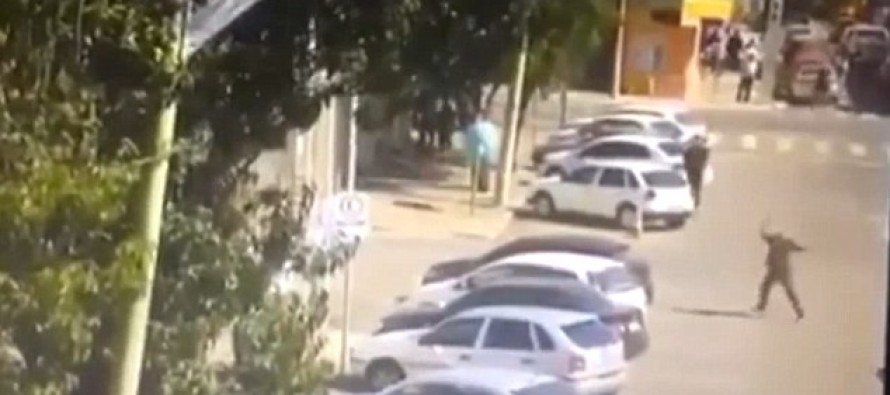Video: He Thought It Was Funny To Throw Rocks At A Car Until The Driver Got Mad And RAN HIM OVER