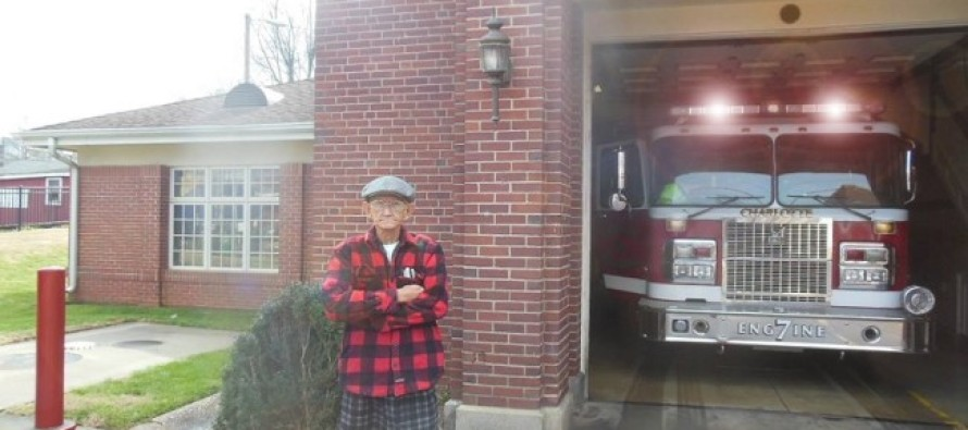 This Veteran Now Stands Watch Over Local Fire Station – For This Incredible Reason! WATCH