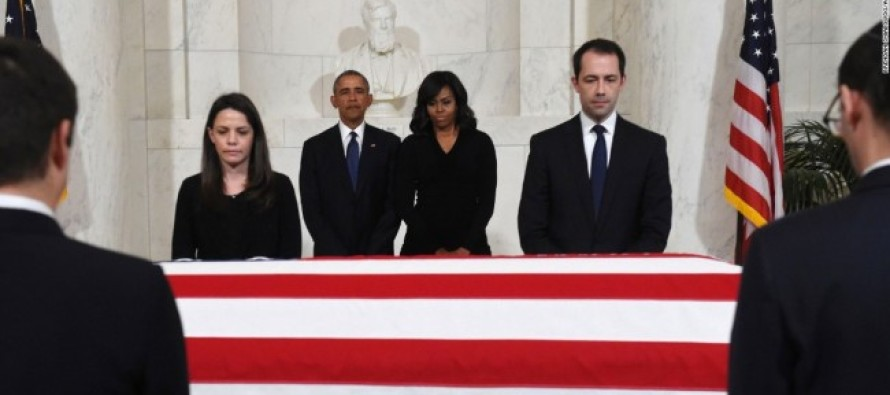 Obama Sacrificed Just 2 Mins Of His Time To Pay Respects To Justice Scalia – But There's More…