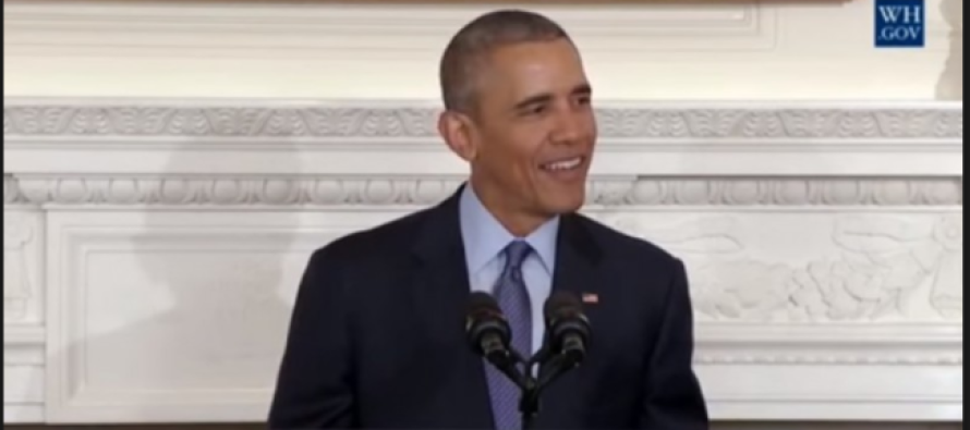 Obama Caught Making a JOKE About Justice Scalia's Death