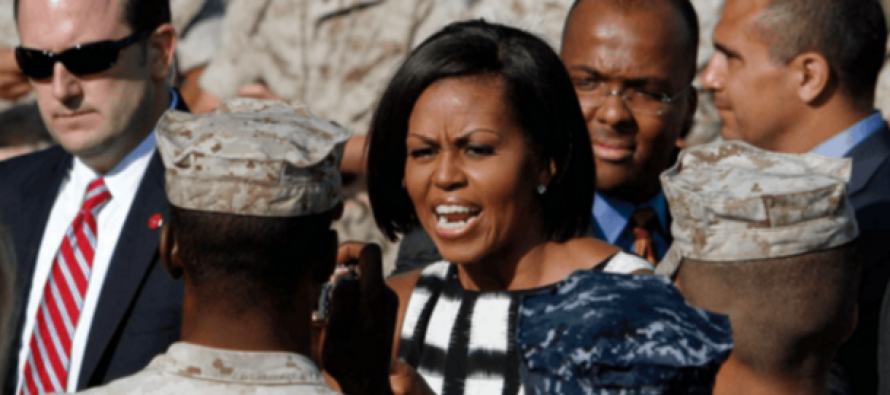 Michelle Obama Challenged This Marine… Got a BRUTAL Response!