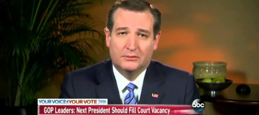 ALERT: Ted Cruz Makes Terrifying Announcement…