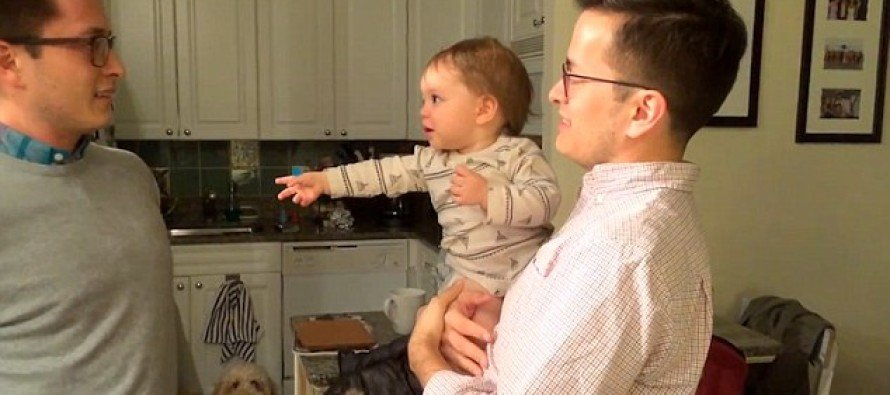 WATCH: The Moment a Baby Meet's His Dad's Identical Twin