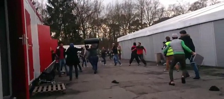 VIDEO: Refugees Attack Each Other With Chairs And Bins After Syrian Girl Refused To Wear A Headscarf