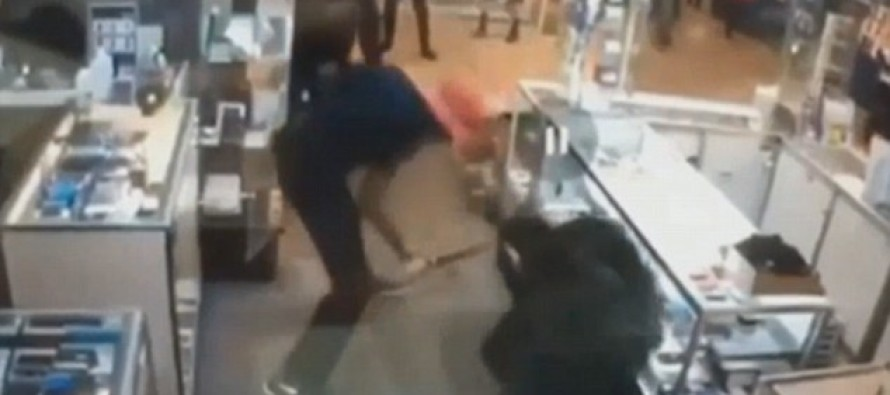 Samurai Sword Wielding Man HACKS Customer- Because He Sees A Poltergeist That Needs Killing…