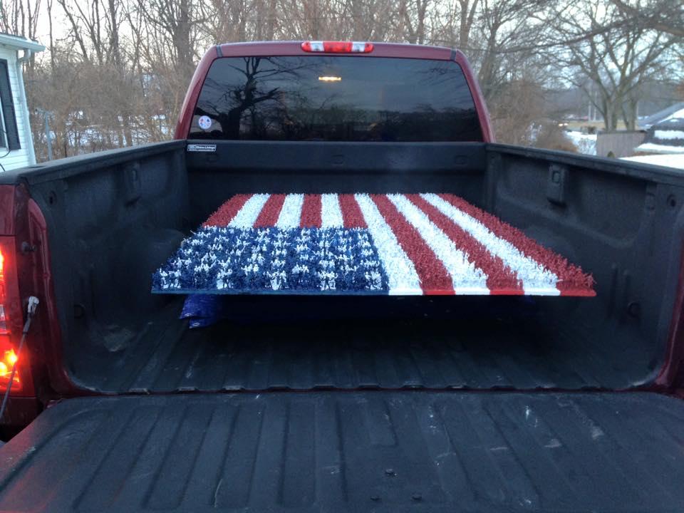 army guy flag truck
