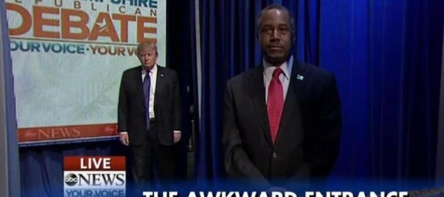VIDEO: Ben Carson's awkward GOP entry resembles an SNL comedy skit