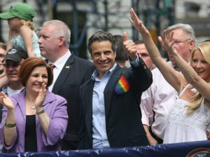 Andrew Cuomo at Gay Pride parade watching the money tumbling in The world is turned upside down! For many years homosexuality was rightly seen as a mental disorder. That was until homosexuals infiltrated the psychology community in the early 70s and changed how homosexuality was