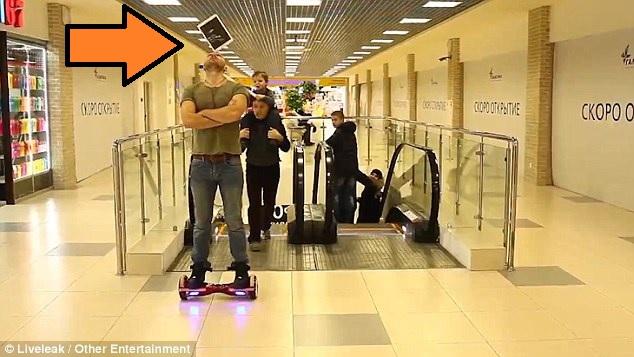 ipad hoverboard clown
