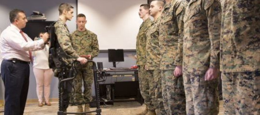 VIDEO: Paralyzed Marine Walks Again With Robotic Exoskeleton