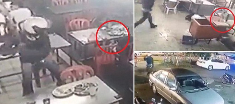 HOLY! Man Casually Walks Into Restaurant With Machete and HACKS Another Man Where He Sits!