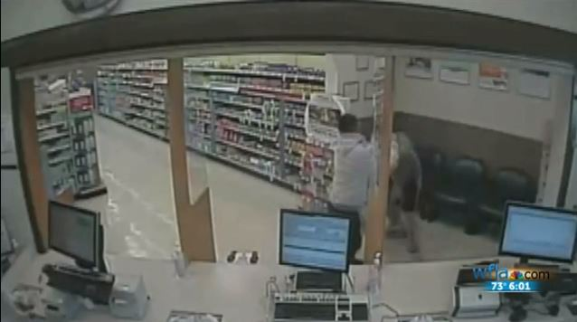 robber gets pounded